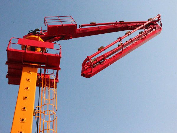 Elevator Shaft Climbing Hydraulic Concrete Place Boom